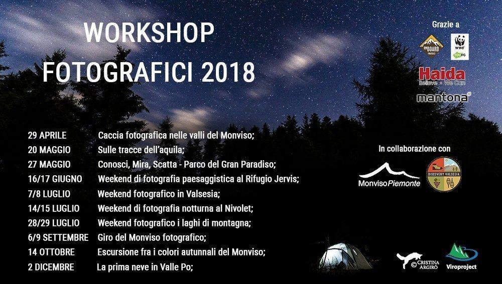 workshop fotografici in montagna
